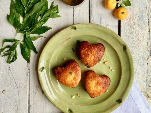 Calamondin And Orange Almond Heart Cakes