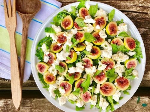 Fig Mint And Goats Cheese Salad