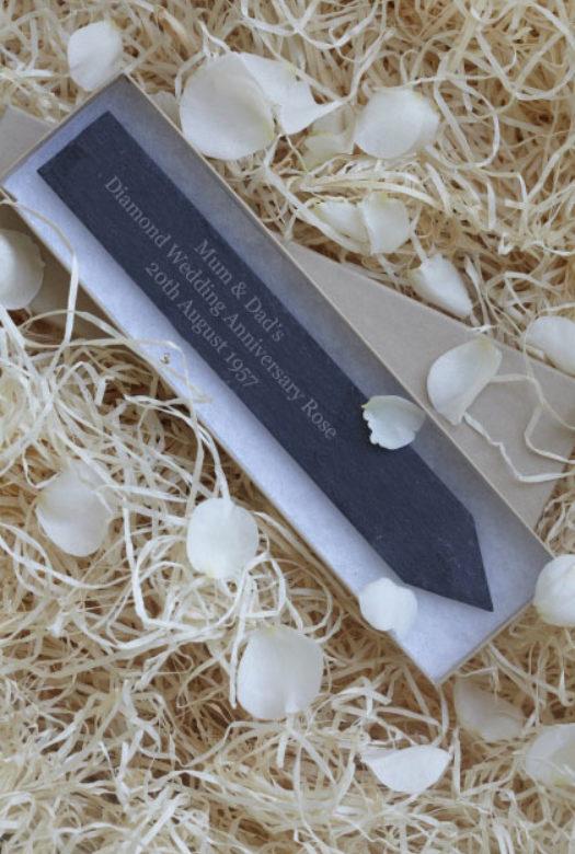 Diamond Wedding Gift Slate