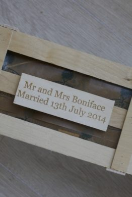Wedding Day Rose Wooden Plaque