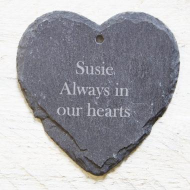 Heart Slate Personalisation